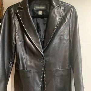 Banana republic women's leather jacket sz8